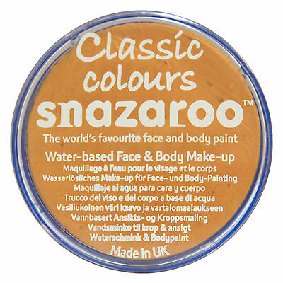 Snazaroo 18ml OCHRE YELLOW FACE PAINT Fancy Dress Party Stage Make Up Classic