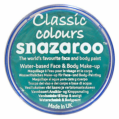 Snazaroo 18ml SEA BLUE FACE PAINT Fancy Dress Party Stage Make Up Classic Colour