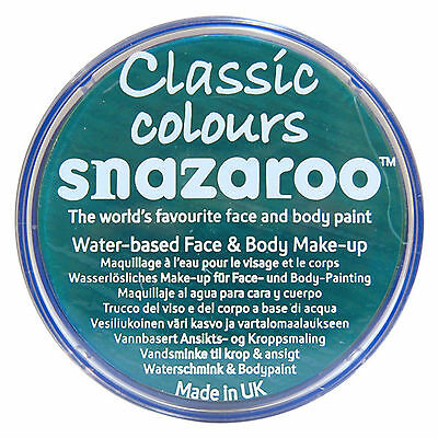 Snazaroo 18ml TEAL FACE PAINT Fancy Dress Party Stage Make Up Classic Colour