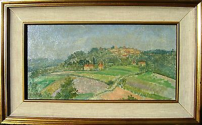 France Domme From The South  Dordogne Oil Patrick Phillips Arws Rp C1956
