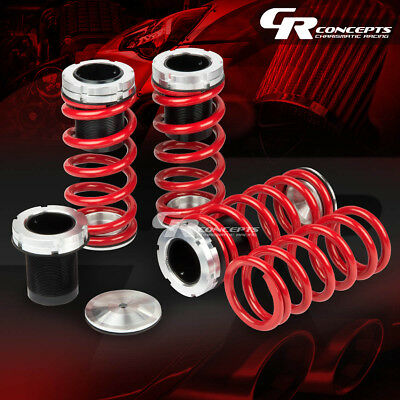 93-98 Jetta/golf Gti Adjustable Black Scaled Coilover Coil Red Lowering Springs