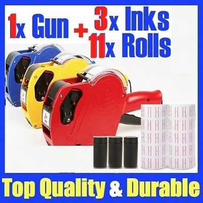 1 x Price Pricing Gun Labeller +11 Rolls Labels + 2 x Inks NG11