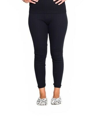 Thermals Ladies 100% Pure Cotton Thermal Long Johns Pants Black