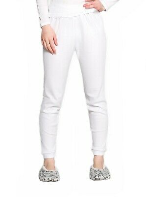 Thermals Ladies 100% Pure Cotton Thermal Long Johns Pants White