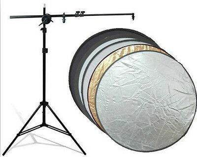 2in1 Photography Studio Multi Photo Disc Collapsible Light Reflector 110cm HS66