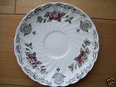 Rear Vintage Myotts Bouquet Staffordshire saucer earthenware china  England