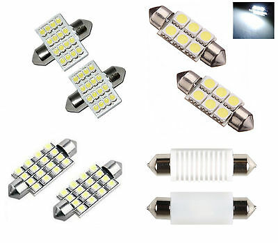 LED SMD Car Dome Interior License Registration Number Plate Light Bulbs Festoon