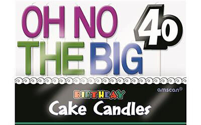The Big 40 Birthday Candles, New, Birthday Cake Decoration, Special Occasions