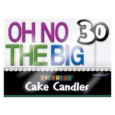 The Big 30 Birthday Candles, New, Birthday Cake Decoration, Special Occasions
