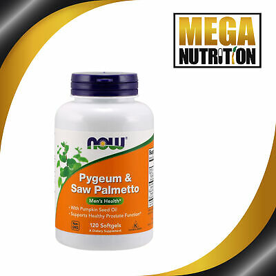 NOW Foods Pygeum & Saw Palmetto Mens Health - 120 Softgels | Prostate Function