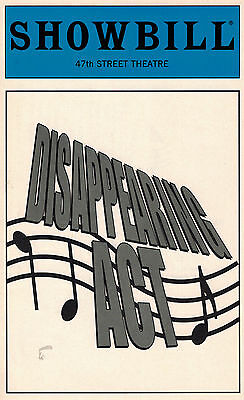 Disappearing Act Off Broadway Playbill - Michael Mcelroy