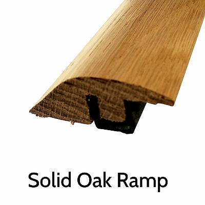 Solid Oak Threshold Ramp Section Door Trim 900mm Strip Transition Profile