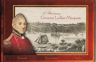 Stamps Australia Lachlan Macquarie booklet all panes inside imperforated, rare