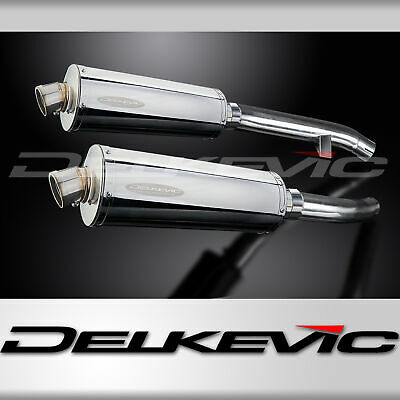 STUBBY OVAL 350mm STAINLESS EXHAUST SILENCER 2001 2002 2003 2004 2005 FJR1300
