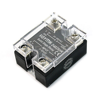 New Solid State Relay SSR 25A 24-480V AC High Reliability Fast Switching ex1l