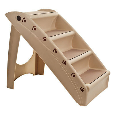 PAW Fold-able Pet Staircase Stairway - Supports up to 120 lb - Durable Plastic