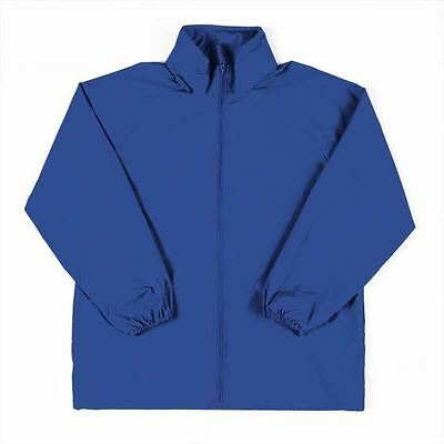 Kids Spray Jacket Size 12 & 14 School Winter Rain Coat Royal Blue New!