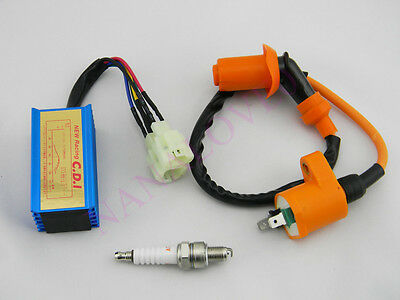 Scooter Performance Racing CDI Ignition Coil Spark Plug For GY6 50cc 125cc 150cc