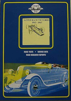Lotus Race Victories 1963-67 Lotus 23, 25, 30, 33B, 49, Grand Prix, Jim Clark +