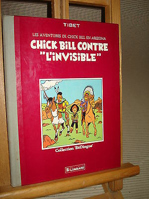 "C/628   Chick bill 1 ""  Contre l'invisible "" Re de 1983 coll bédingue par Tibet"