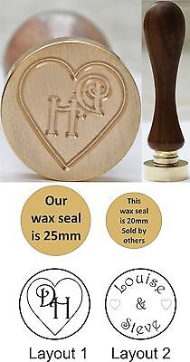 Custom Made Initials or Names Brass Wax Seals Stamp for sealing wax, FREE UK P&P