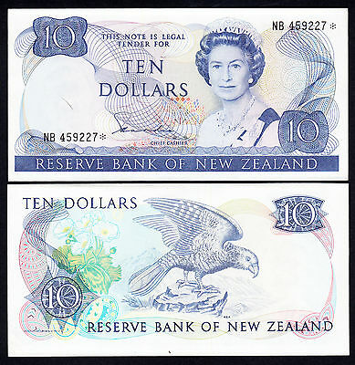 New Zealand EF+ Replacement Star Note Hardie  $10 P172b Prefix NB RARE Note
