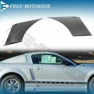 FOR 05-09 Ford Mustang Urethane Side Fender Scoop Black 1 Pair
