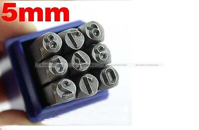 Hand Metal Marking Stamps Uppercase Punches Letters Alphabet Numbers Set 3/4/5mm