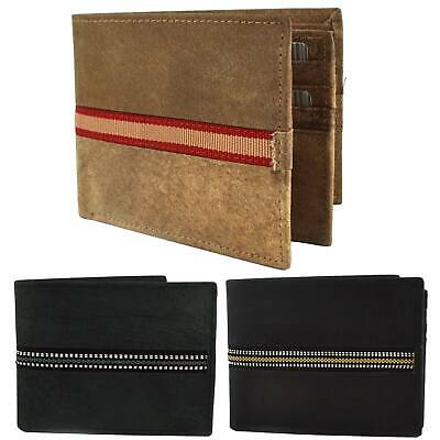NEW Mens Stoned Washed Effect LEATHER Tri-Fold Wallet by St James Credit Card
