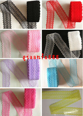 Wholesale 10 Yard Bilateral Handicrafts Embroidered Net Lace Trim Ribbon