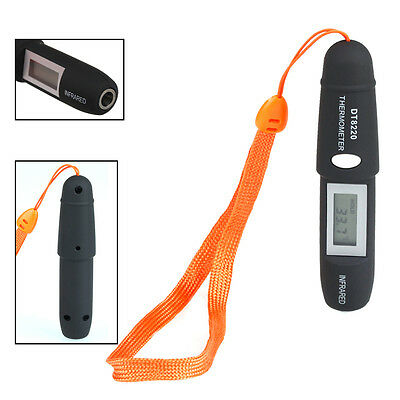Mini Pen Type Non-Contact LCD Digital Infrared Thermometer Laser Point Black