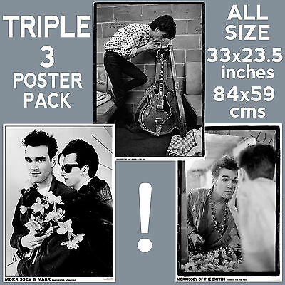 Morrissey/Marr - Set of 3 Posters Size 84.1cm x 59.4cm - 33 in x 24 in *Smiths*