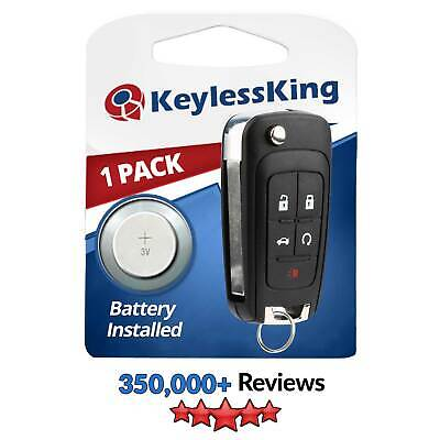 10X Replacement Uncut Flip Key Fob Remote Start Keyless Entry for  OHT01060512
