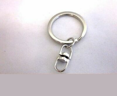 """Lot of 200 100 50 25 New Key Ring with Chain Key Rings 32mm 1 1/4"""" Key You Pick"""