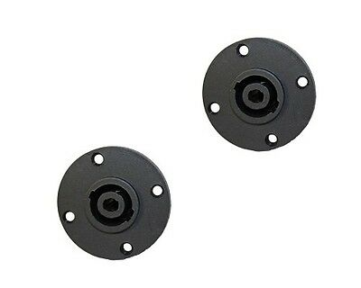 2 Pack Speakon chassis panel mount 4 pole conductor speaker  amp connector jack