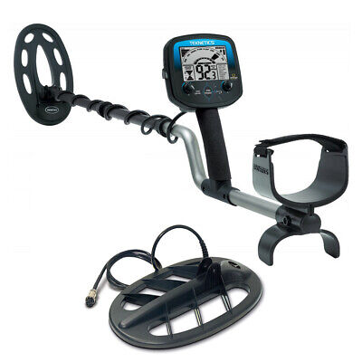 """Teknetics Omega 8500 Metal Detector with Waterproof 10"""" & 11"""" Coil Made in USA!"""