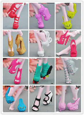 New 60 Style Fashion Shoes Boots For Original Monster High Doll Accessories