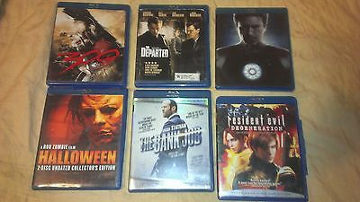 Lot 6 Blu-ray Iron Man, 300, The Departed, Resident Evil, The Bank Job Halloween