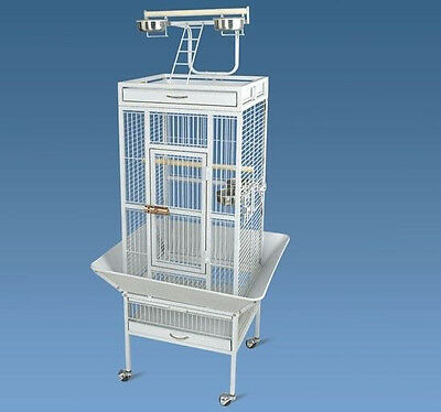 New Play Top Bird Cage w/ Stand Feeder Bowls Aviary Cockatiel Parakeet