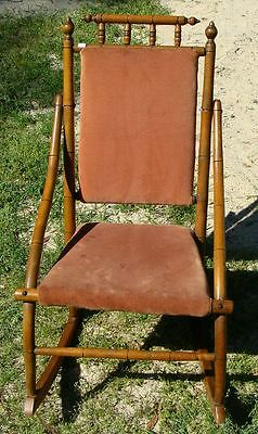 Victorian Hunzinger or Eastlake Style Child's Rocking Chair Spool Rocker Antique