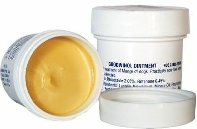 Goodwinol  Jar Ointment 1oz Follicular,Red Mange Dogs  apply daily see results!