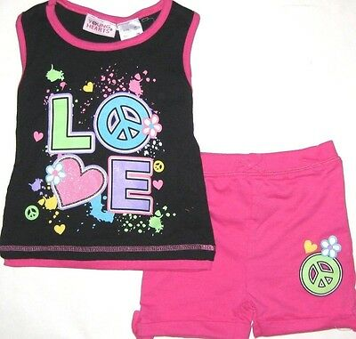 Baby Girl Outfit Clothes Tank Top Short Set Pink  Summer Soft Infant 12 18 24 M