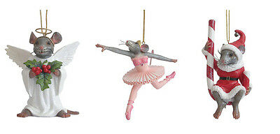 December Diamonds 3 MOUSE XMAS PACK Peppermint, Angel  Ballet - FREE SHIPPING!