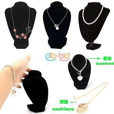 Pendant Bust Stand Holder Show Decorate Black Necklace Jewelry Display HKUS