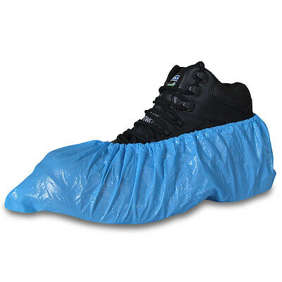 Extra Strong Blue Disposable Overshoes Covers Carpet Floor Shoe Boot Protectors