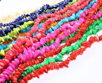 100 / 50 SHELL BEADS CHIPS 8mm - 11mm COLOURFULL MIX