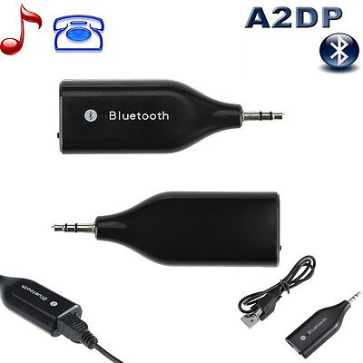 3.5mm Bluetooth Music Streaming Receiver Adapter Handsfree for Galaxy S5 Note3 2