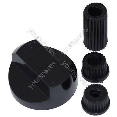 Stoves Universal Cooker/Oven/Grill Control Knob And Adaptors Black