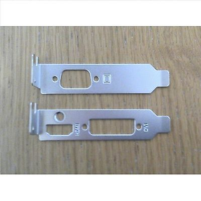 Asus Low Profile Brackets - HDMI DVI VGA for Half Height Graphics Cards (1 Pair)