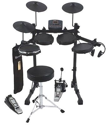 D-TRONIC Q2 Electronic Digital Drum Kit with DTRONIC Drumkit Stool & Drum Sticks